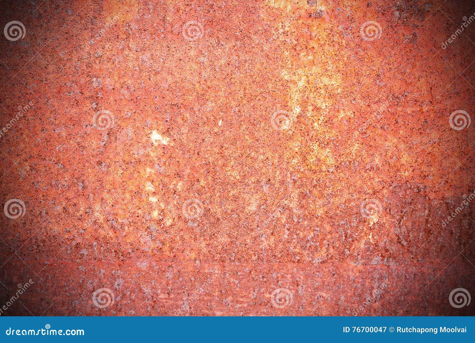 Stålgångbanamats besprutade röd rost