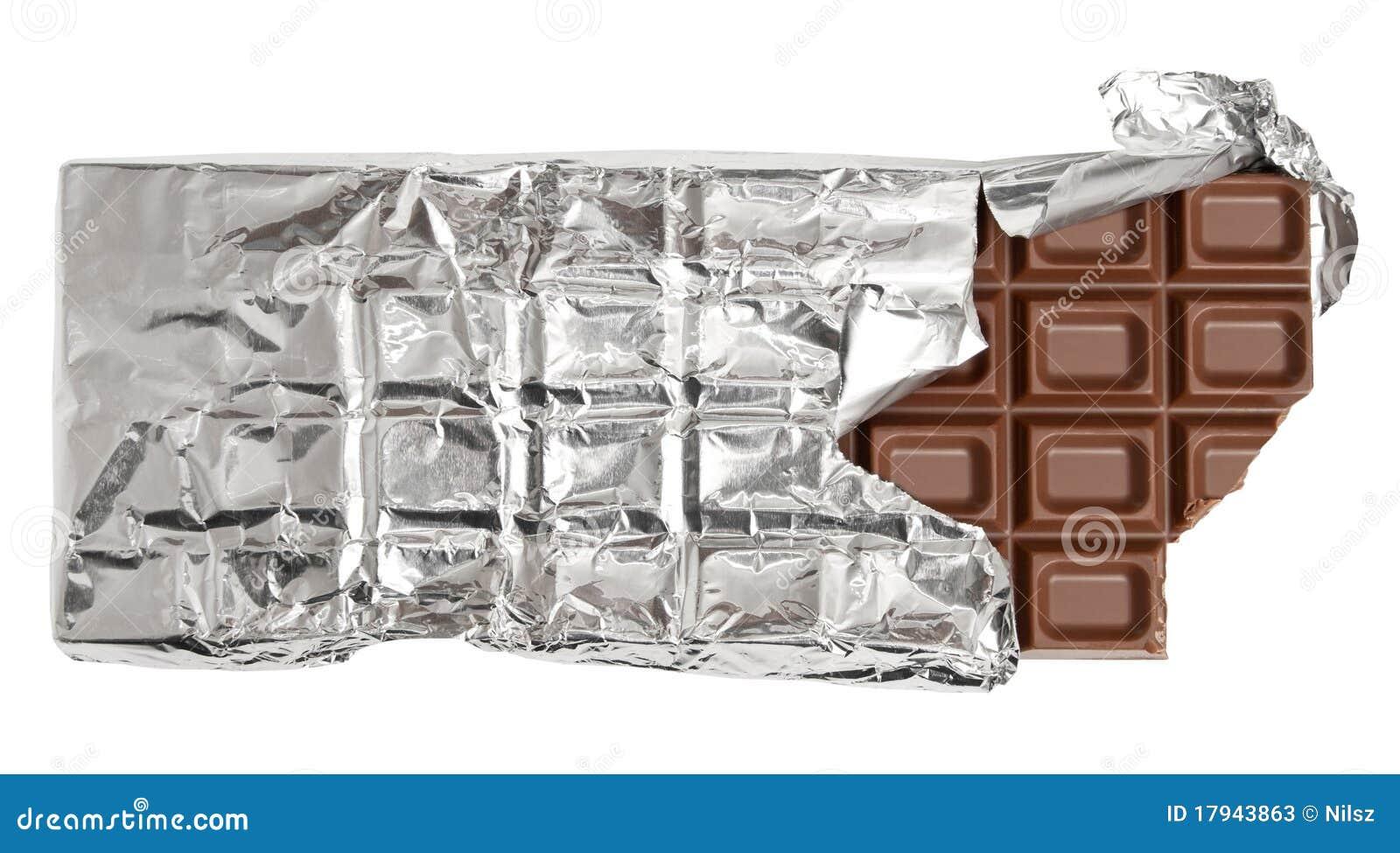 Stången biten choklad mjölkar