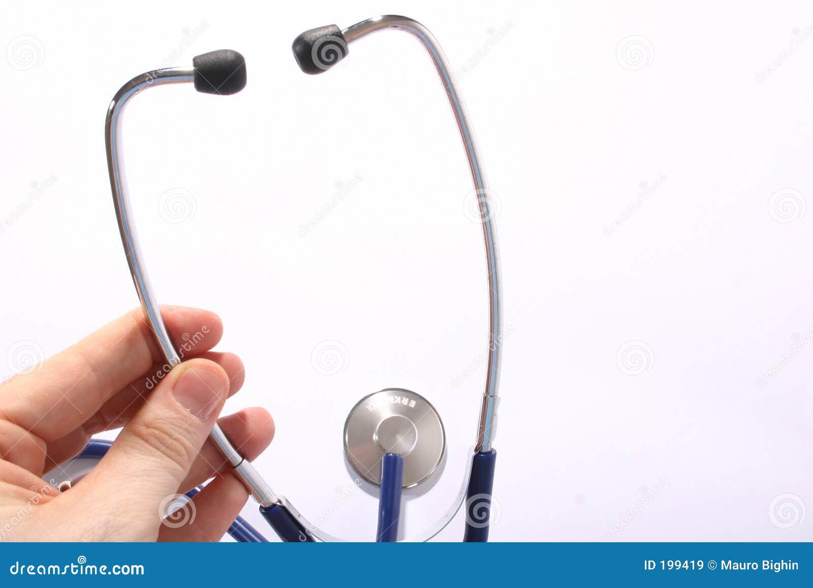 Stéthoscope à disposition
