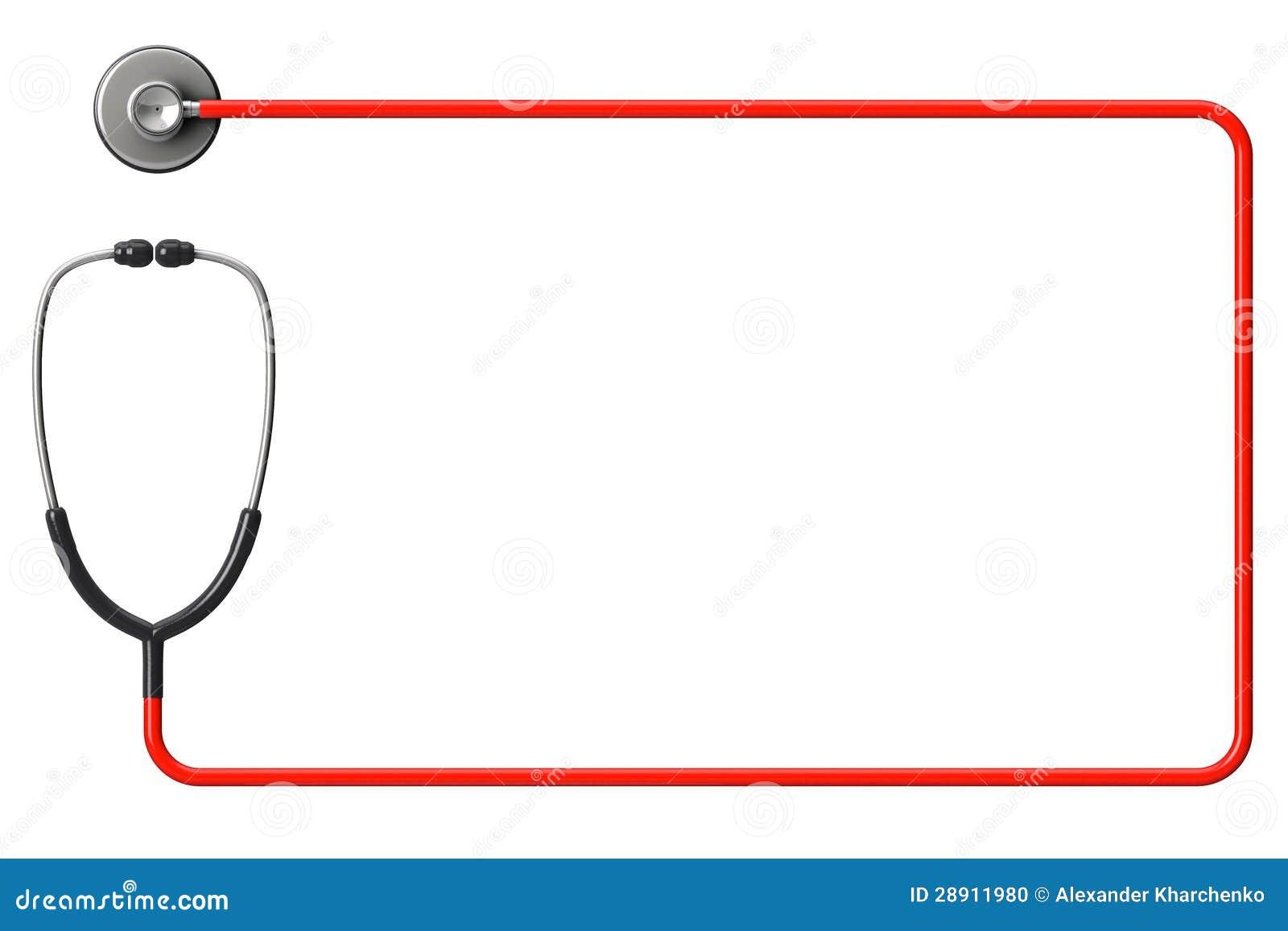 Stéthoscope en rouge comme trame