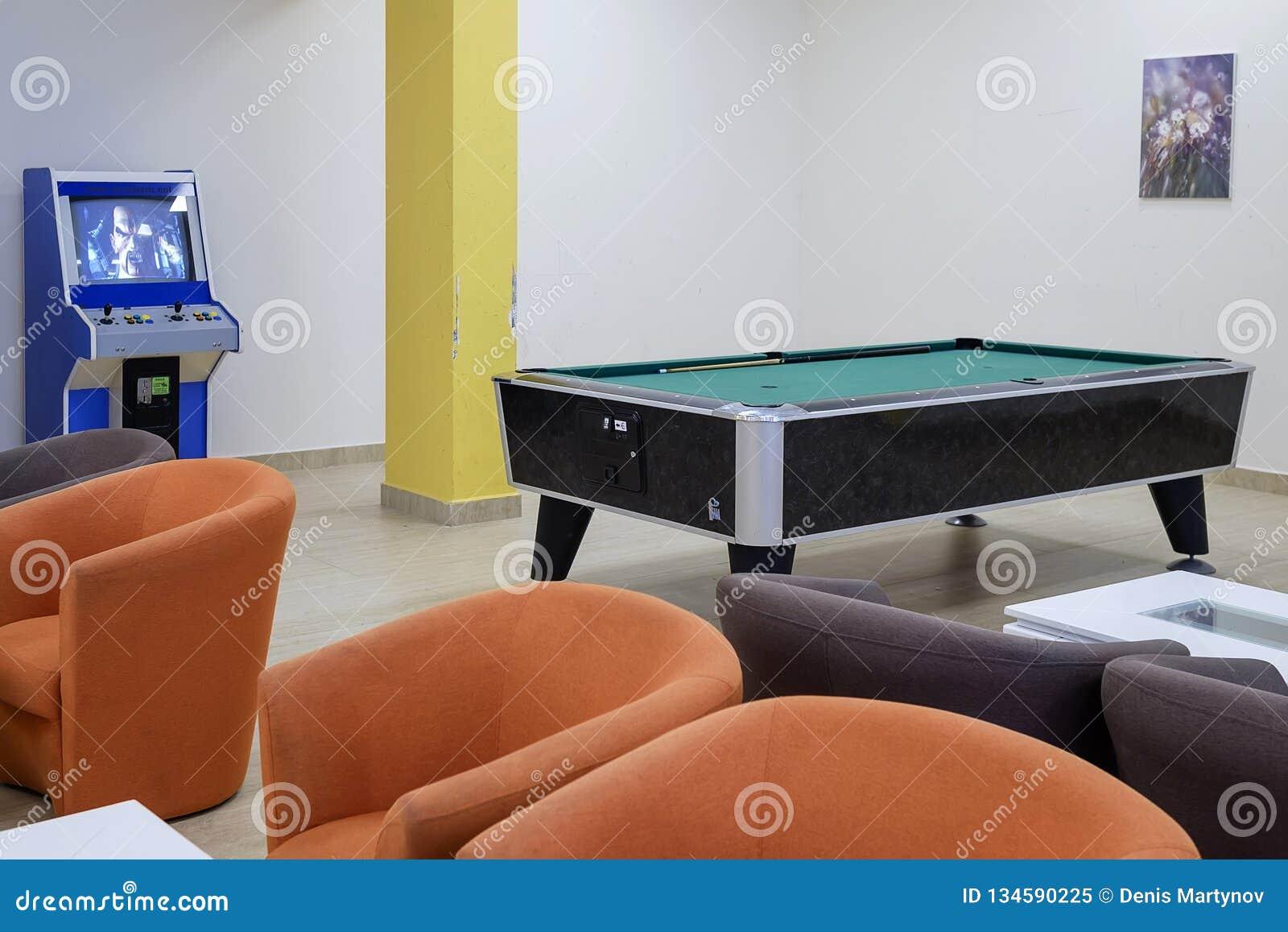 Stół dla billiards w hotelu lobby 1
