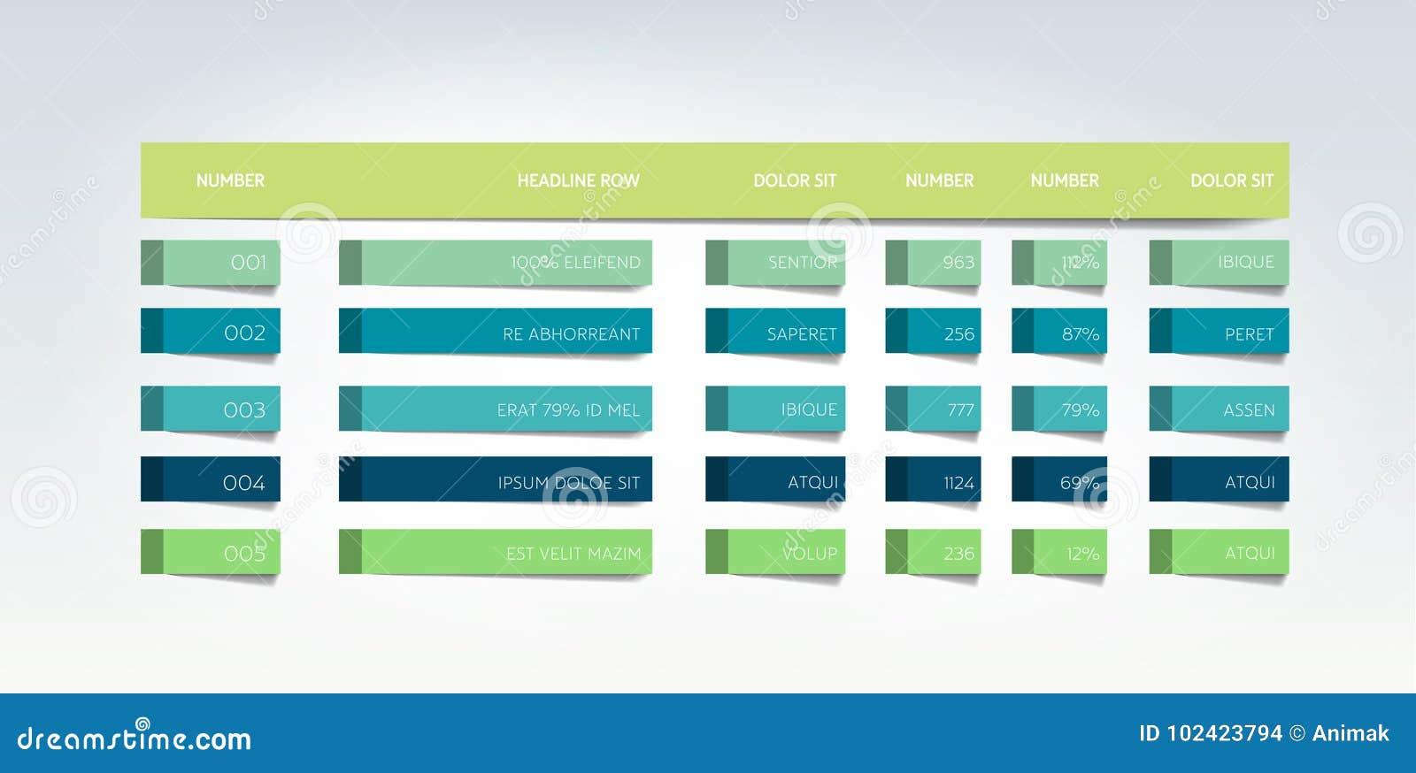 Stół, rozkład, zakładka, planista, infographic projekta szablon