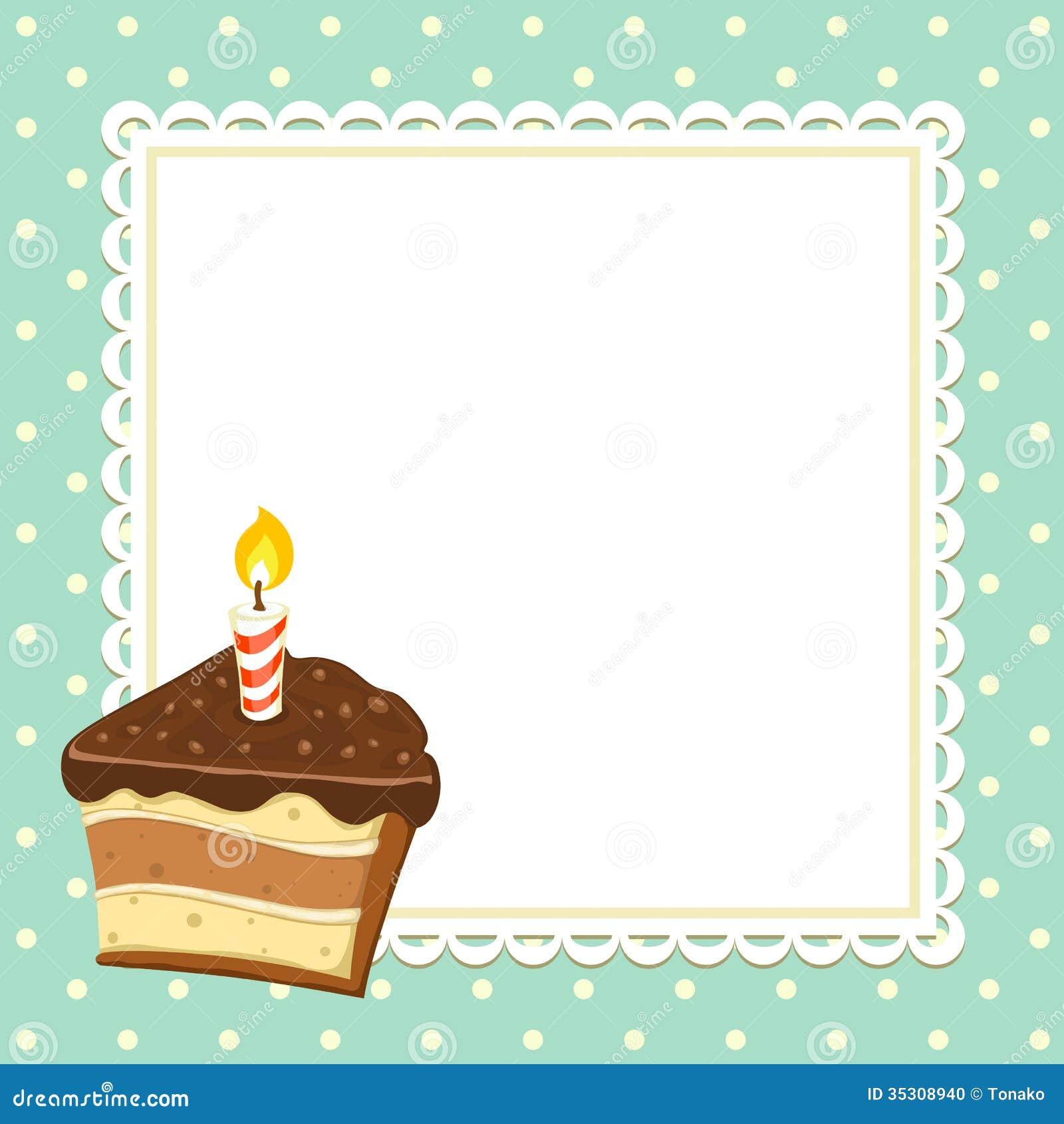 Stück des Kuchens