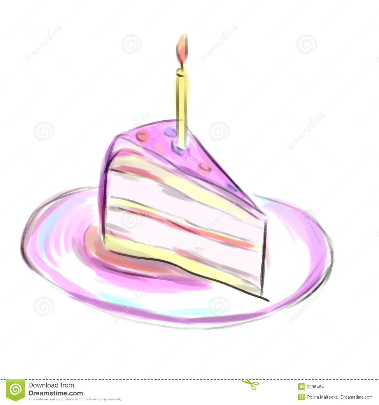 Stuck Einer Torte Stock Abbildung Illustration Von Celebrate 2286464