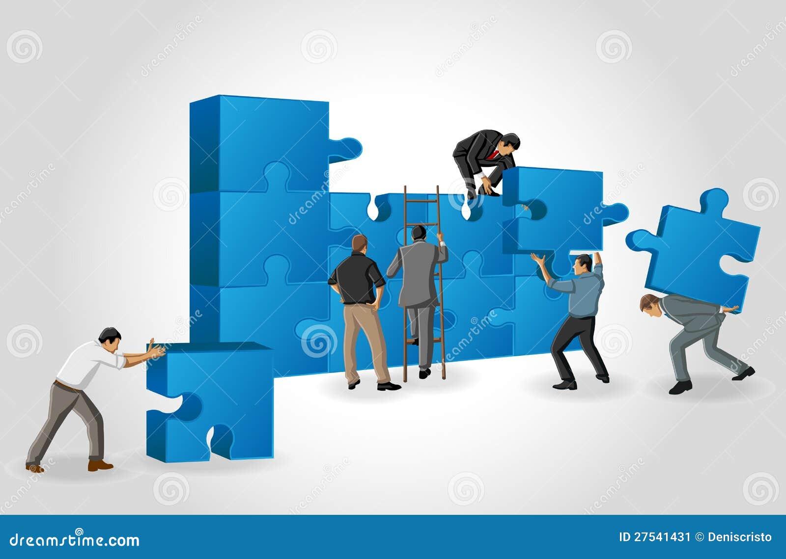 Stücke eines Puzzlespiels