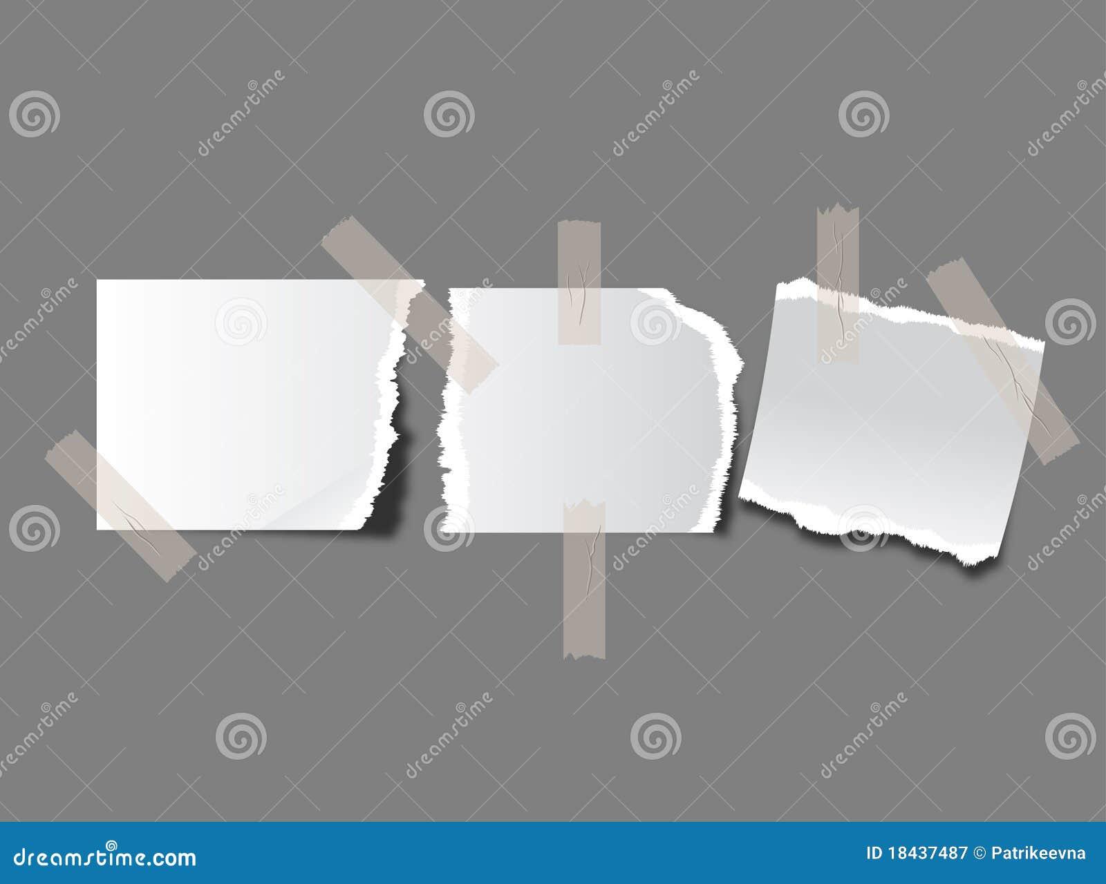 Stücke heftiges Papier
