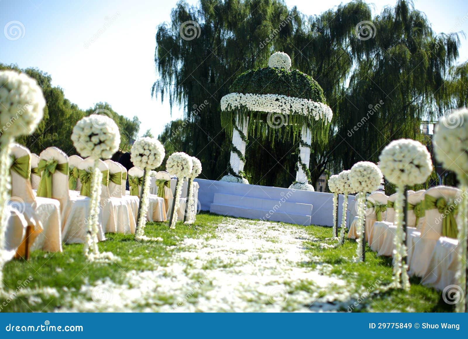 Hochzeit Szene Im Freien Stockbild Bild Von Verpflichtung 29775849