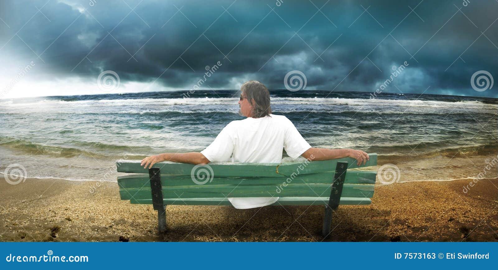 Stürmischer Strand