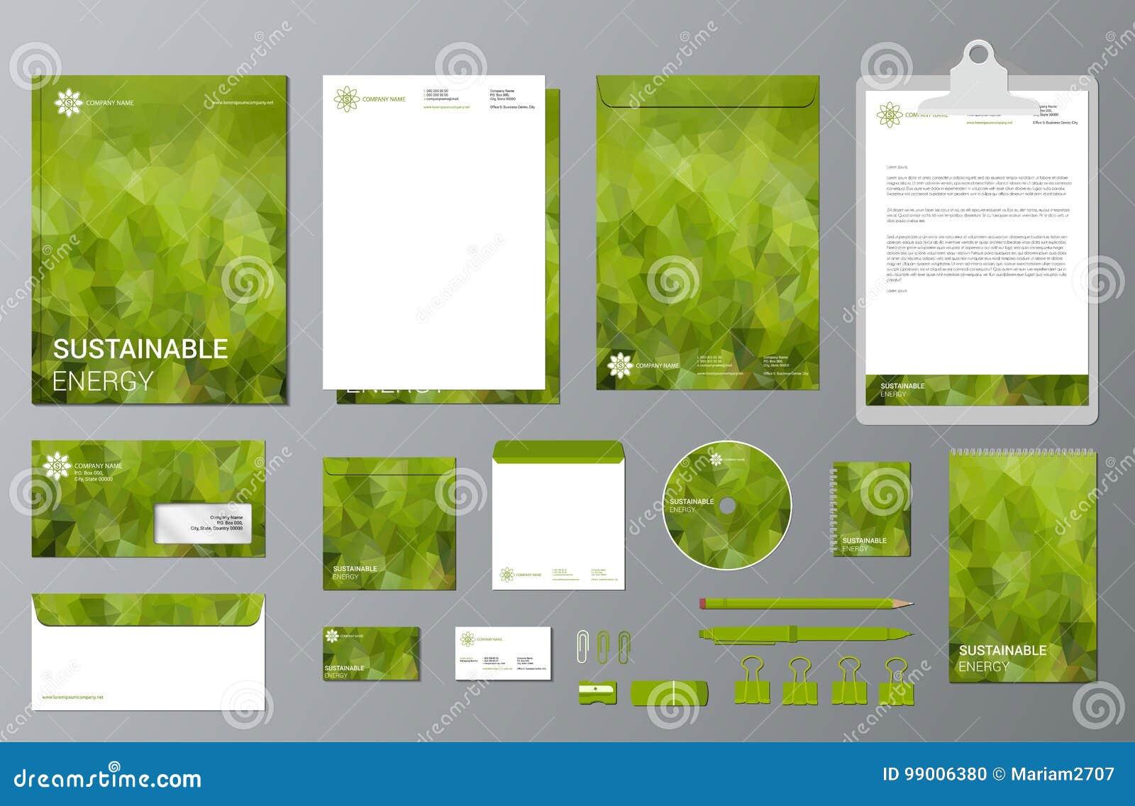 Stützbarer Energiebranding-Briefpapiersatz