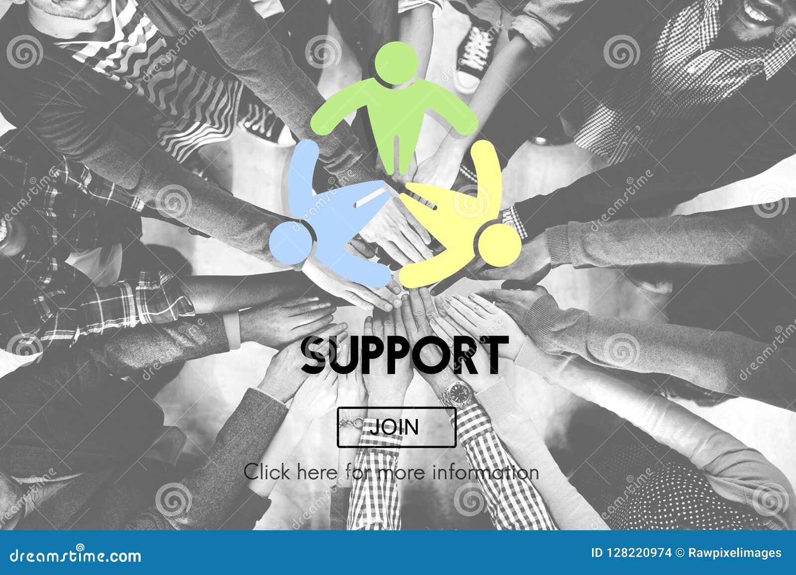 Stützzusammenarbeits-Unterstützungs-Hilfsmotivations-Konzept