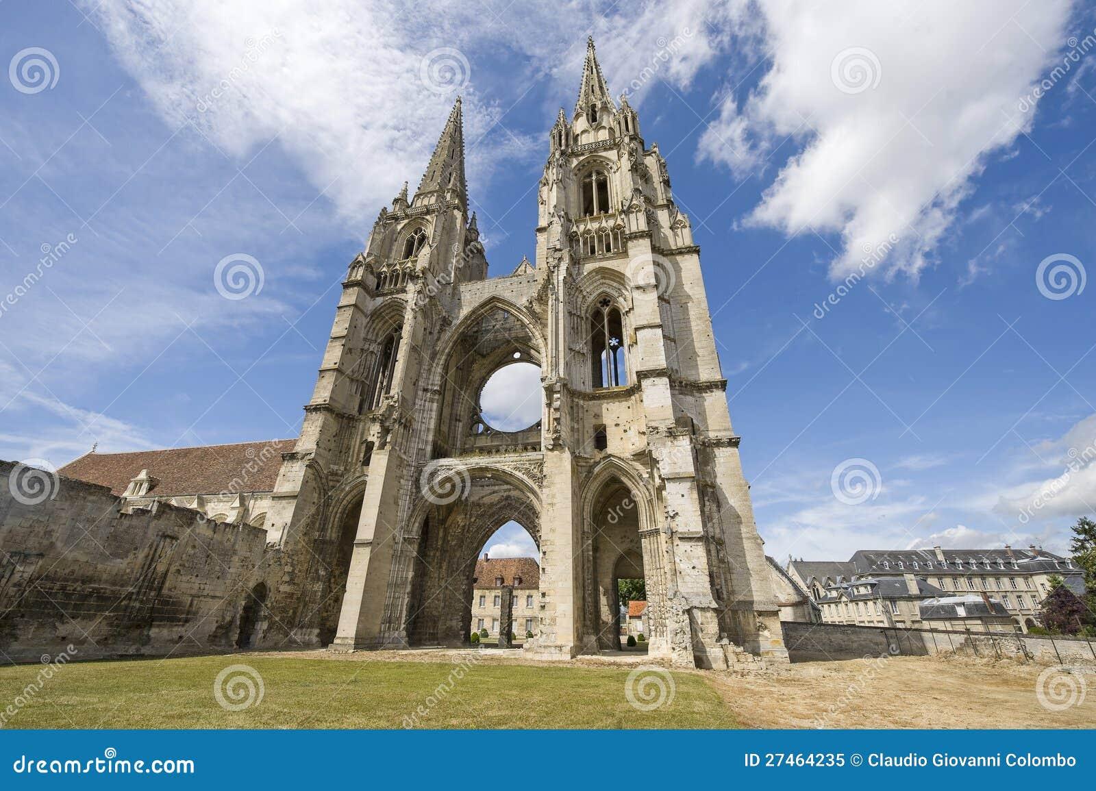 St吉恩des Vignes修道院在Soissons的