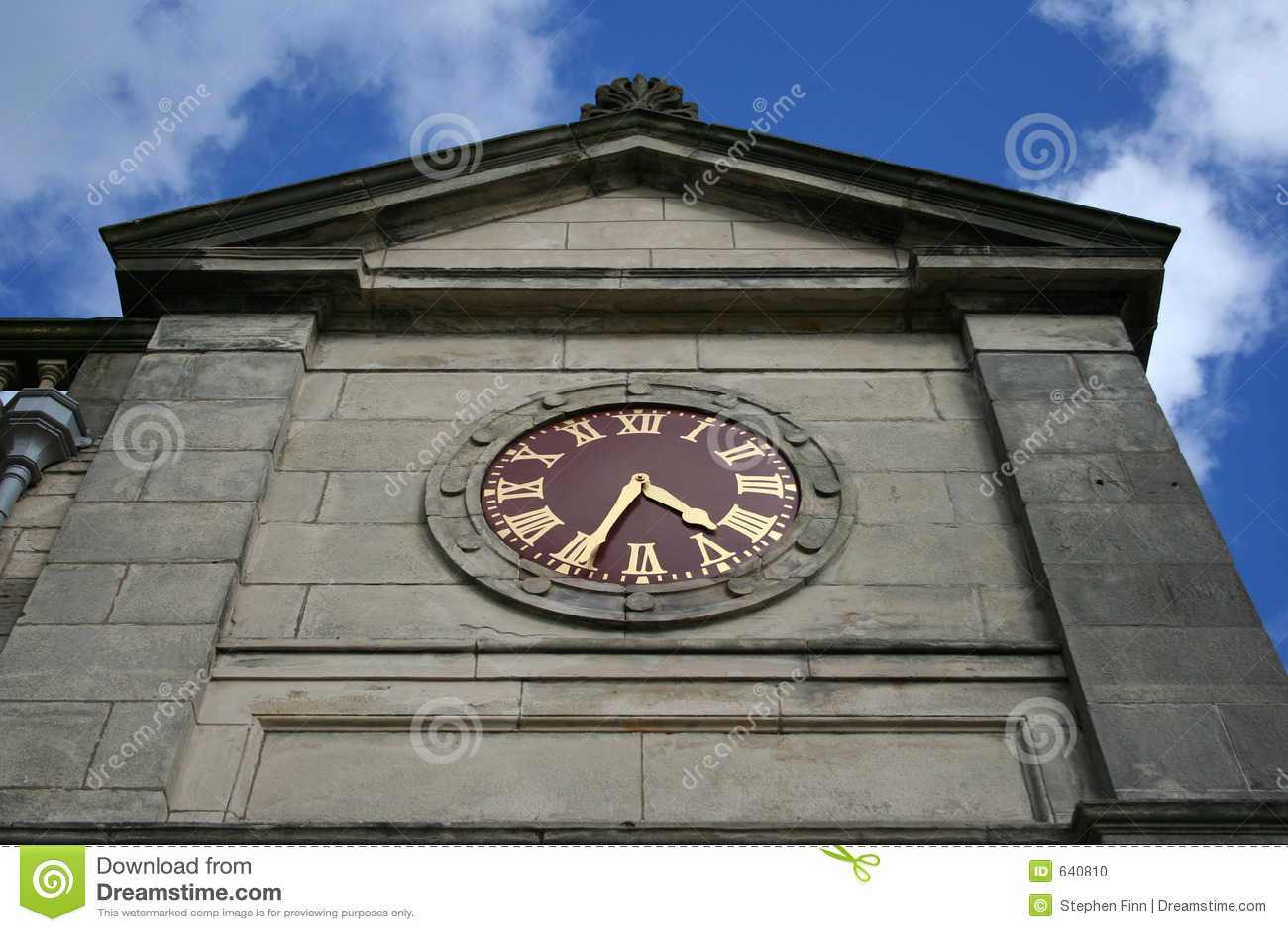 Download St клуба часов andrews стоковое фото. изображение насчитывающей клуб - 640810