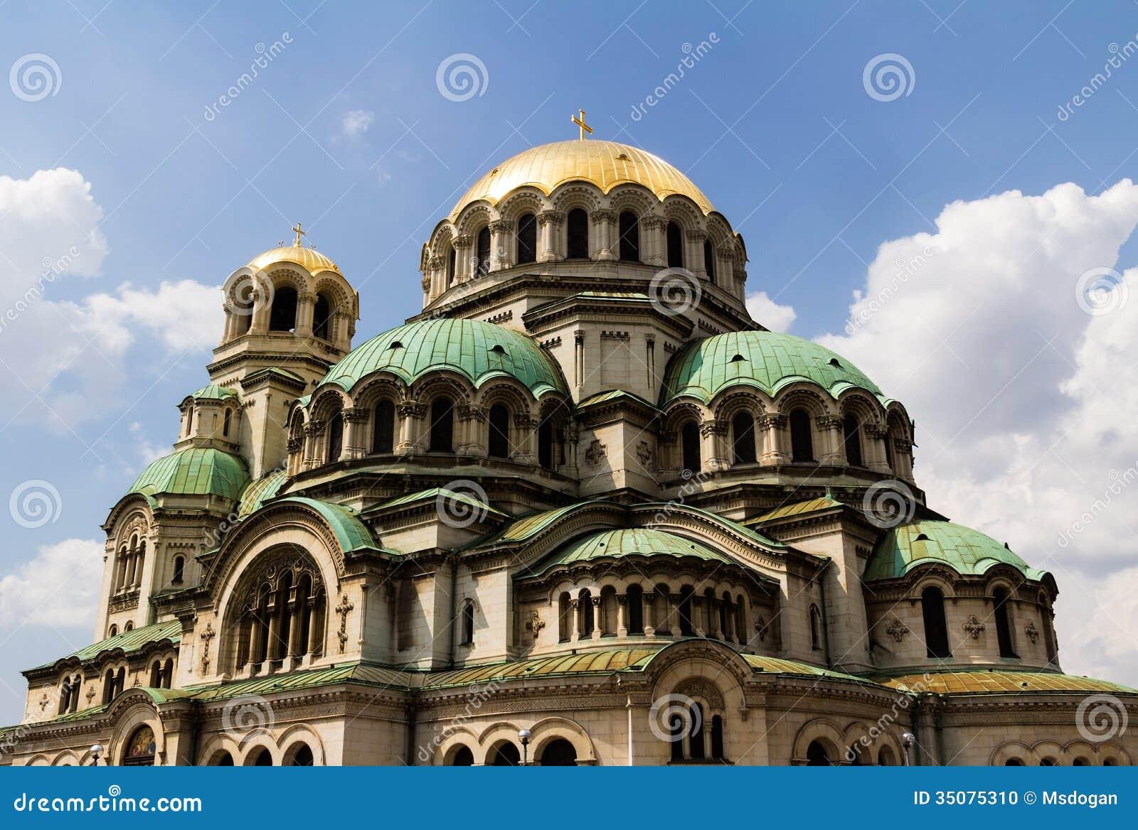 涅夫斯基大教堂是保加利亚正统大教堂在索非亚,保加利亚的首都.图片