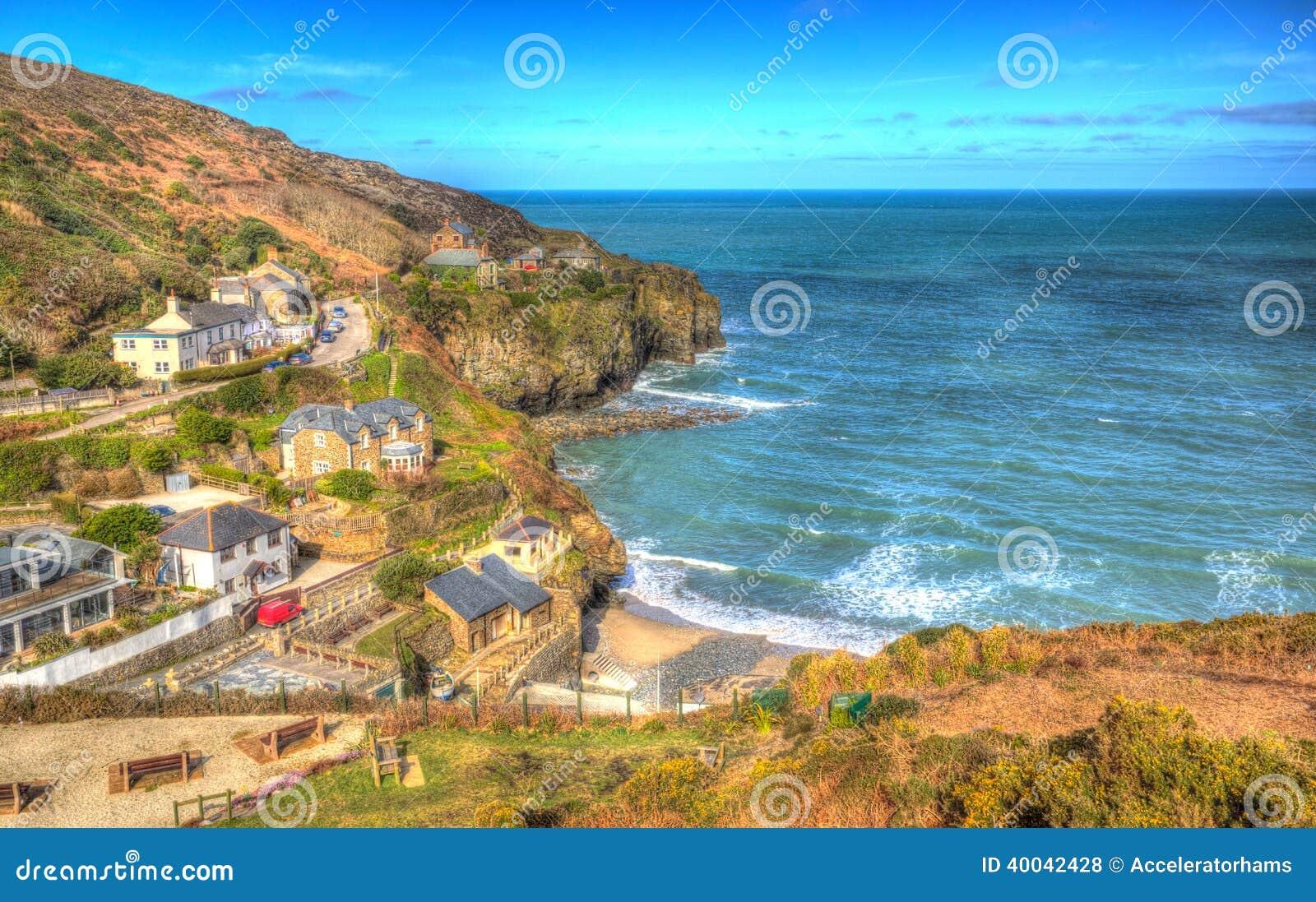St Agnes Cornwall England United Kingdom entre Newquay et St Ives dans HDR coloré