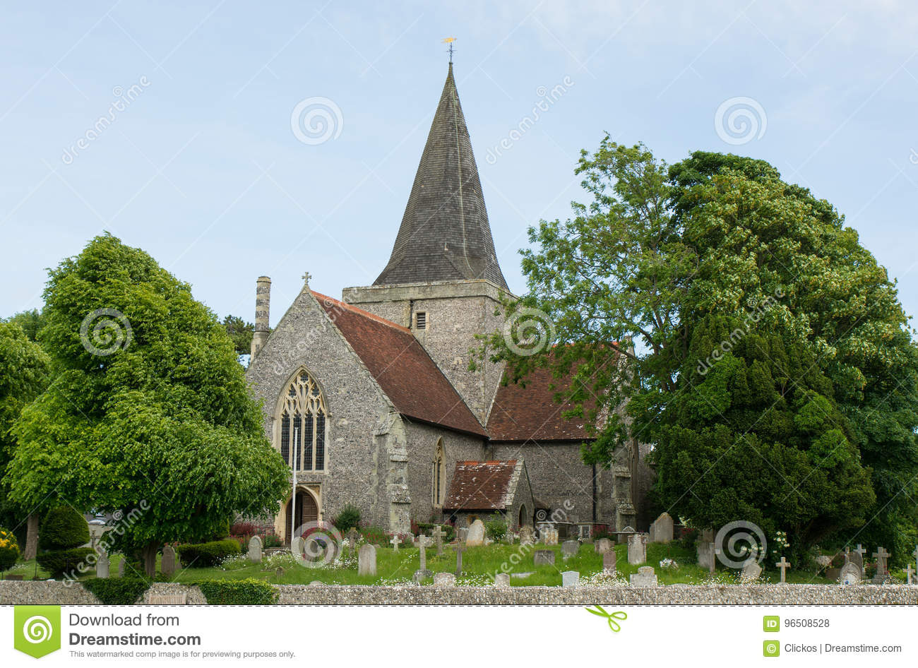 St- Andrew` s Kirche, Alfriston, Sussex, England