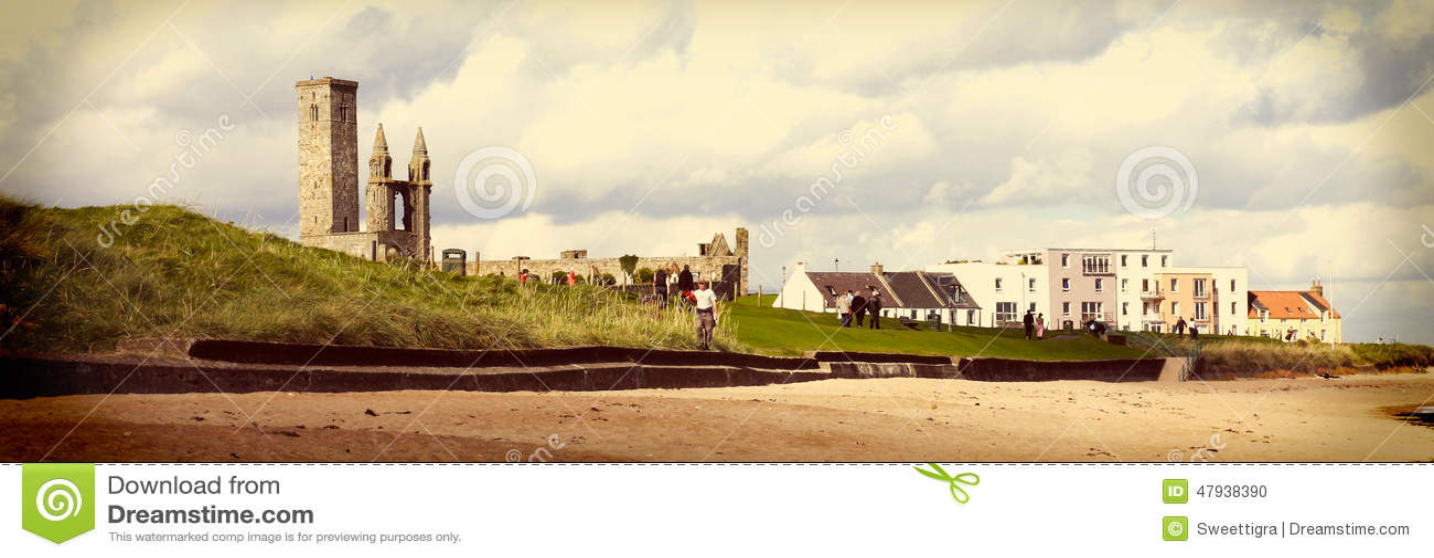 St. Andrews Abbey and University, North Sea coast, Scotland