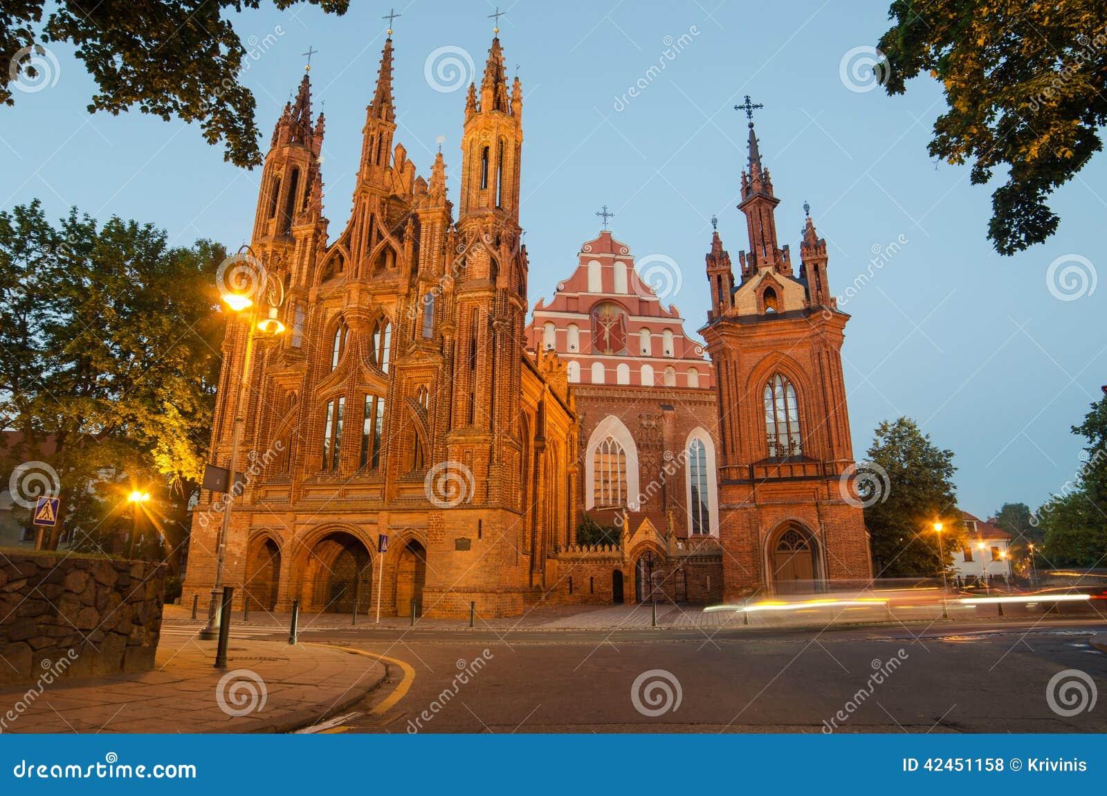 St Anne und Bernadines Kirchen in Vilnius, Litauen