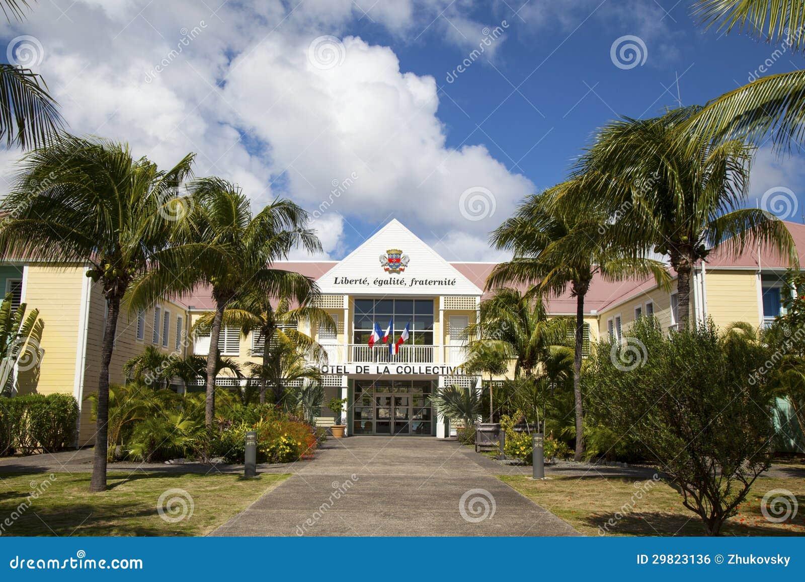 Hotel DE La Collective, vroeger Stadhuis bij St Barth, de Franse Antillen.