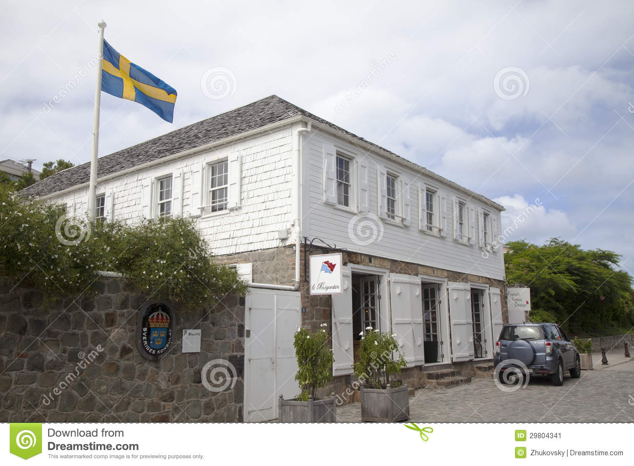 Swedish consulate in Gustavia, St Barths