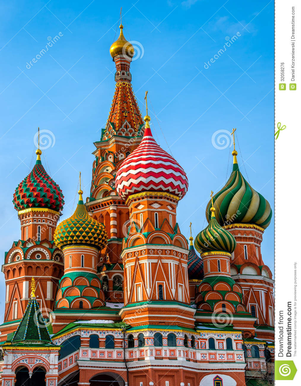 St. Basil Cathedral Domes Royalty Free Stock Image - Image: 32058276
