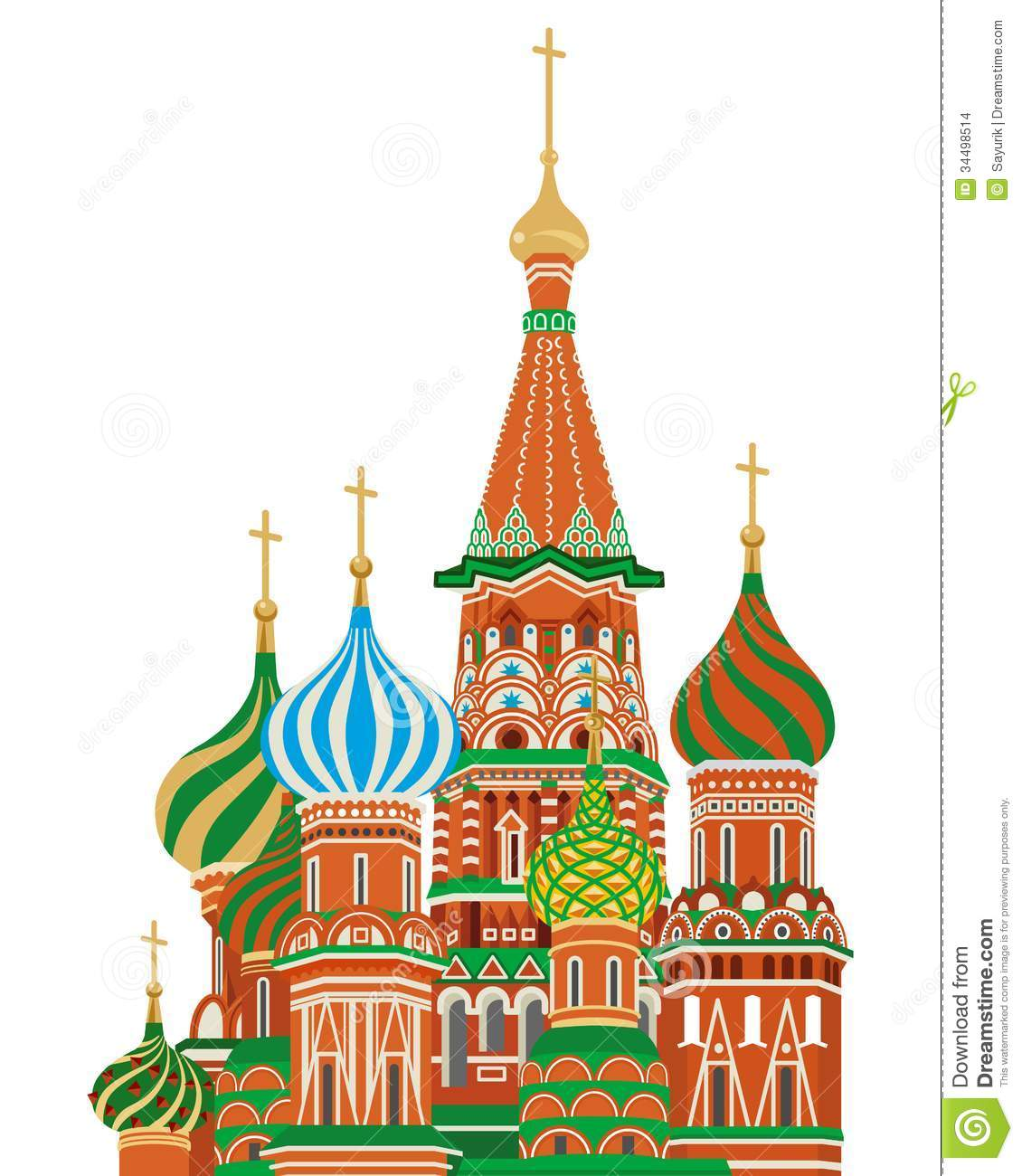 St. Basil Cathedral,Isolated Stock Images - Image: 34498514