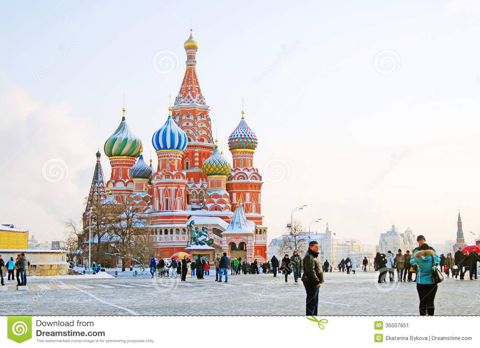 St basil cathedral, place rouge, moscou, russie. monde de l unesco il
