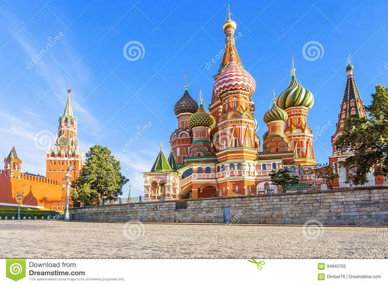 St. Basil`s Cathedral on Red Square in Moscow