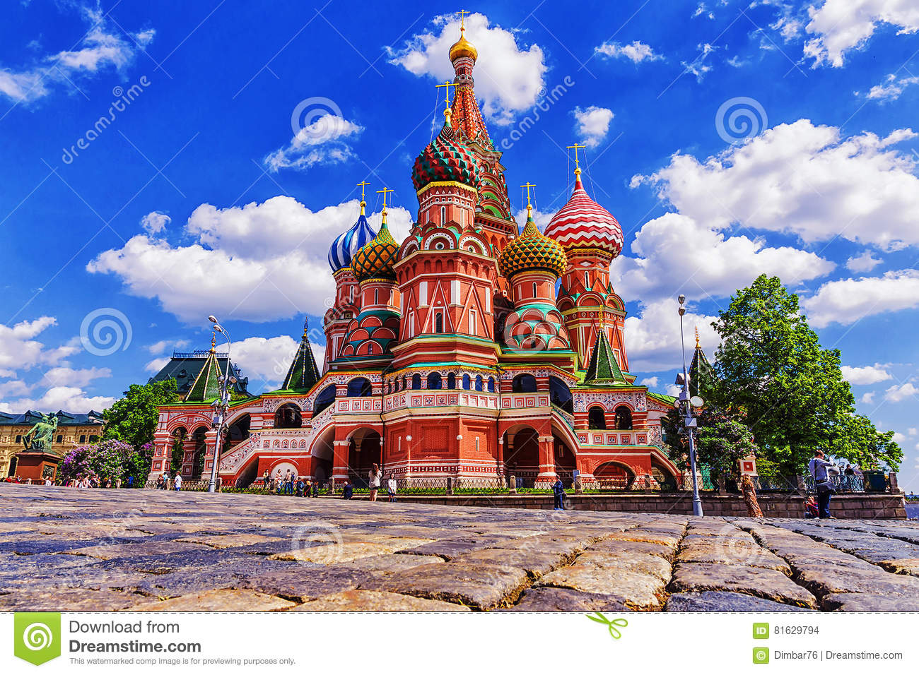 St Basil& x27; s Kathedraal in Moskou, Rusland