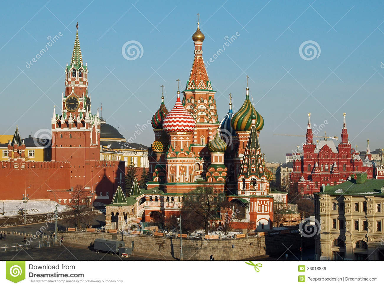St Basils Cathedral & Kremlin, Moscow, Russia