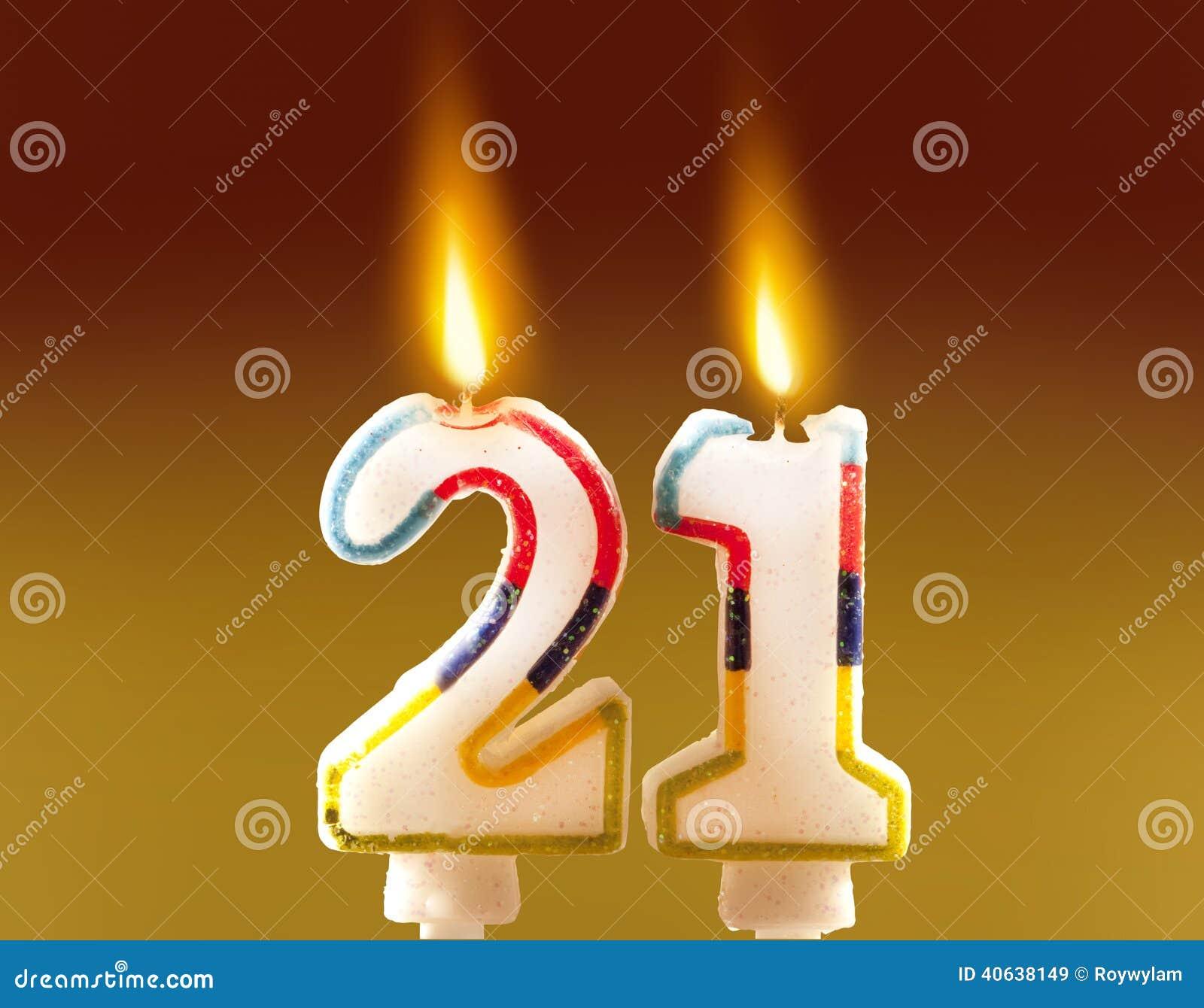 21st Birthday - Candles