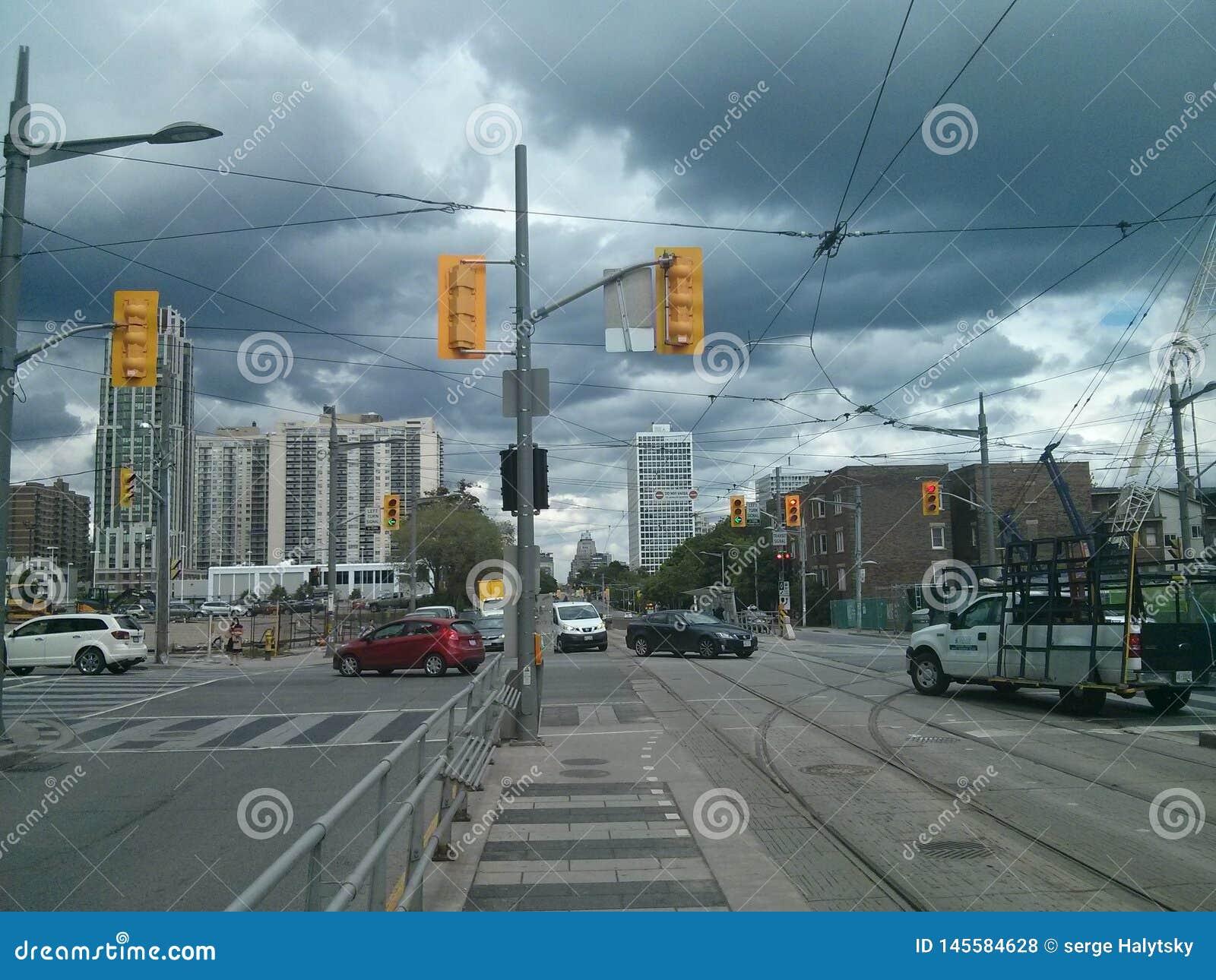 St ClIaire Ace przy Bathurst ulicą w Toronto, Ontario, Kanada Lato 2016