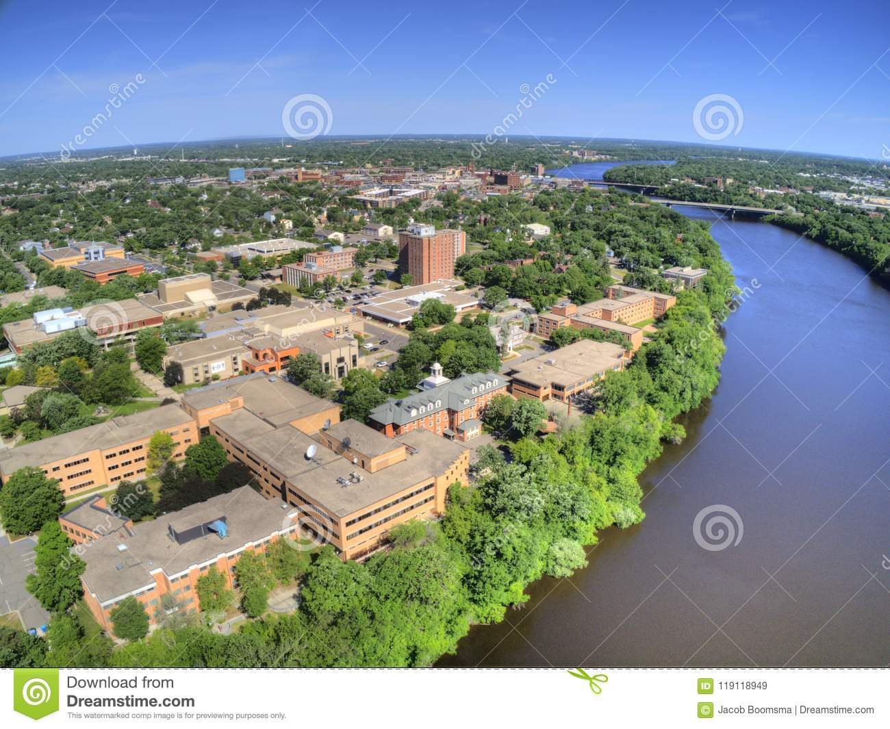 St. Cloud University is a College on the Mississippi River in Central Minnesota