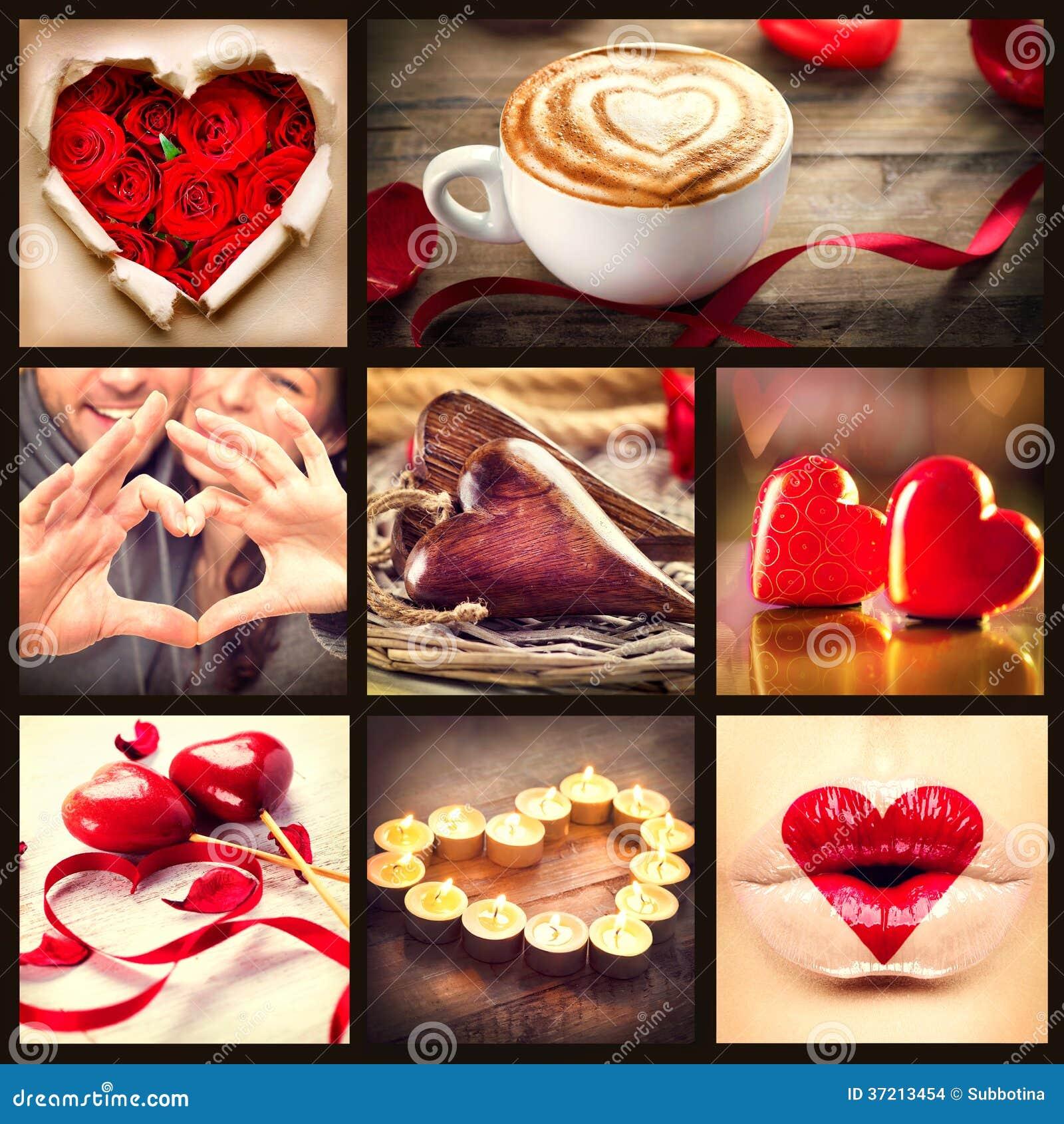 St collage di giorno di biglietti di S. Valentino