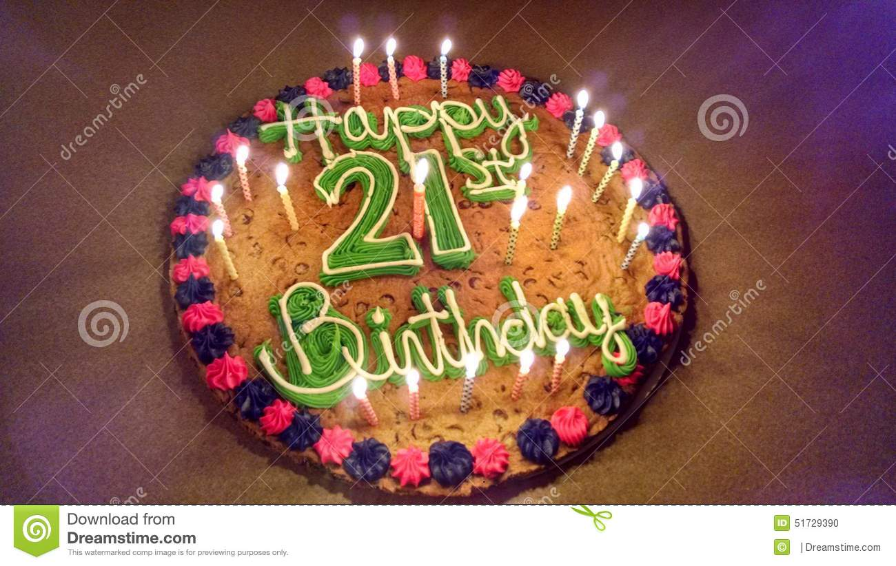 Cookie Cake Designs For 21st Birthday : 21st Stock Photo - Image: 51729390