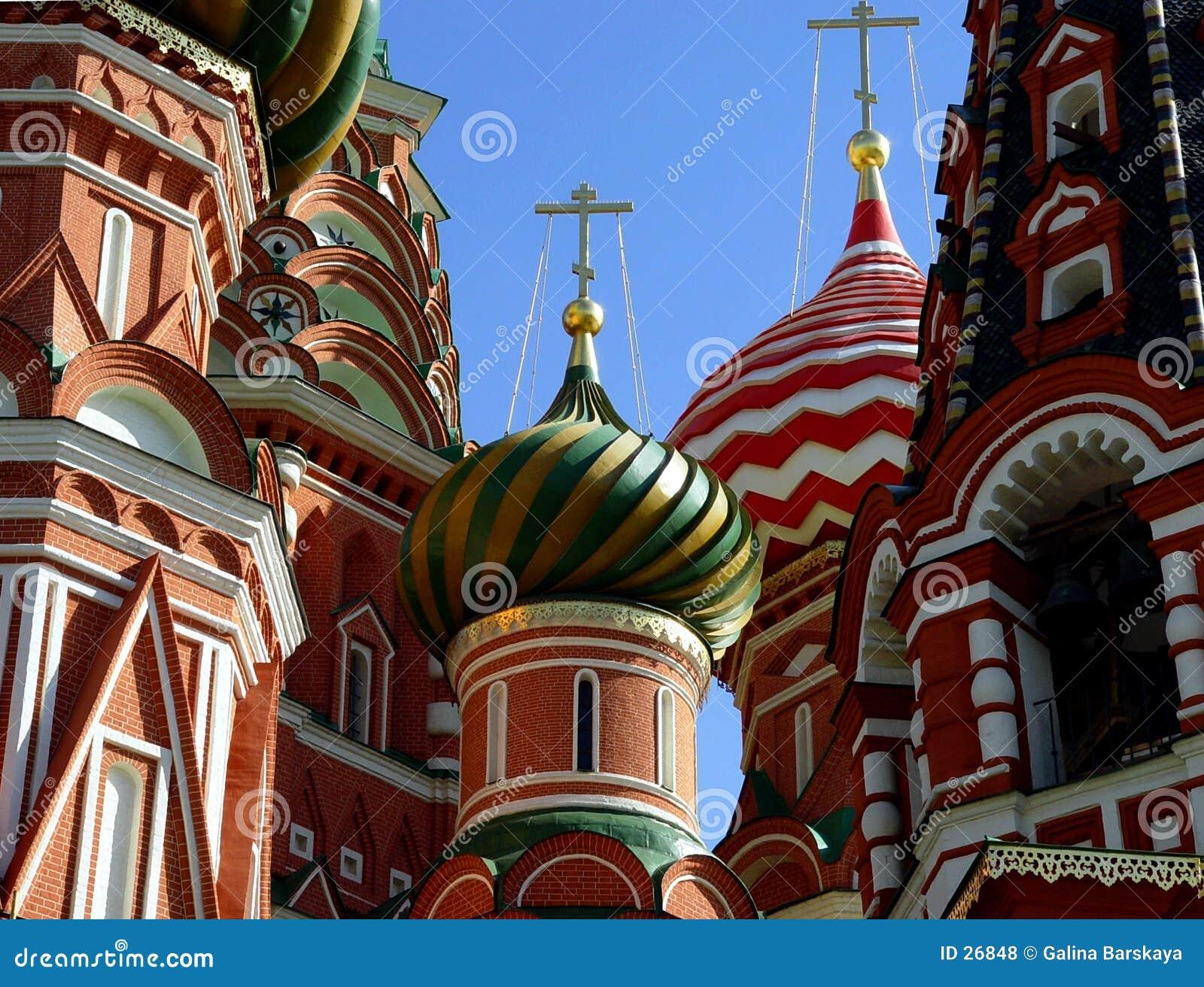 St. de Kathedraal van het basilicum, Moskou, Rusland