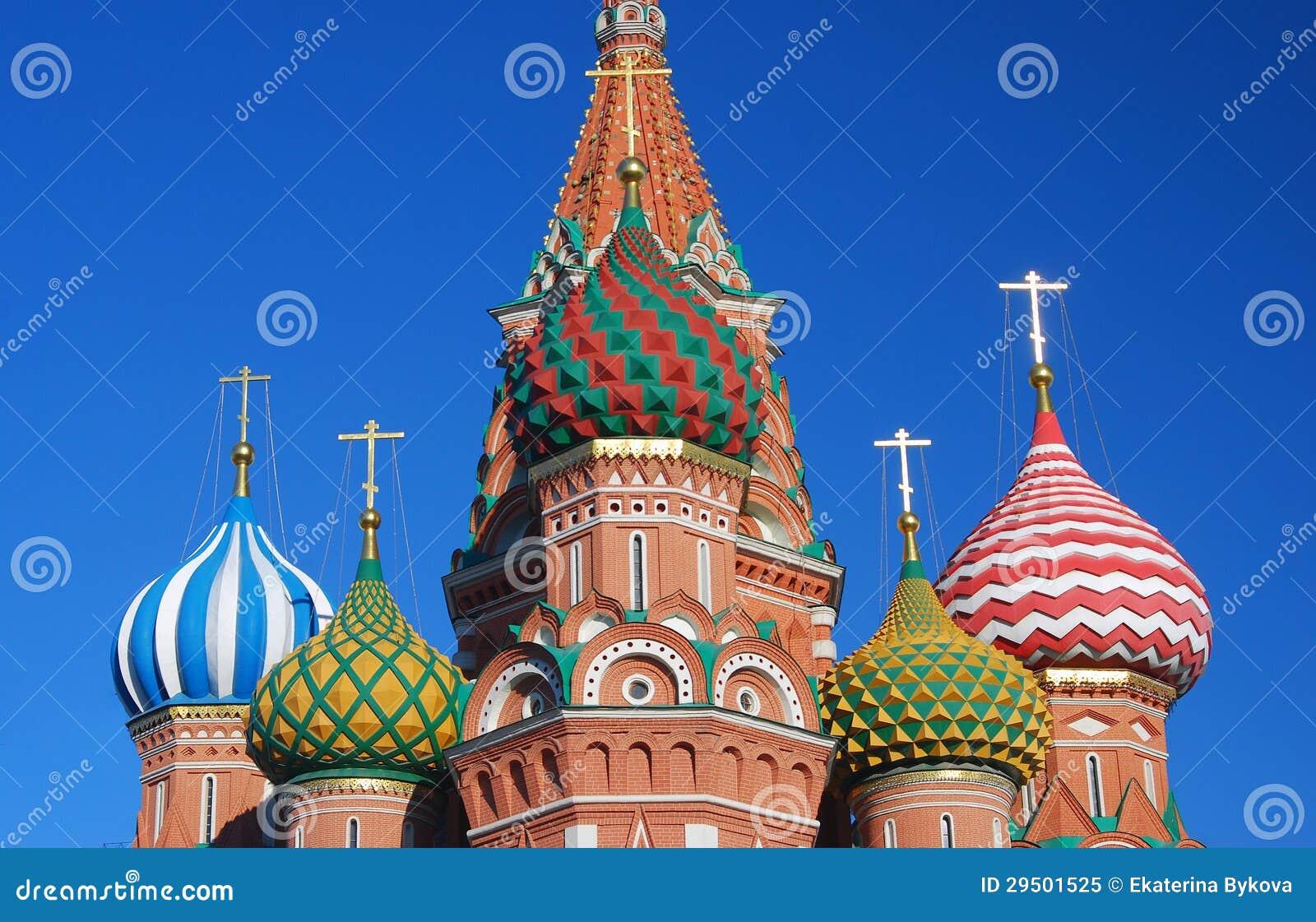 St. de Kathedraal van het basilicum, Rood Vierkant, Moskou, Rusland.