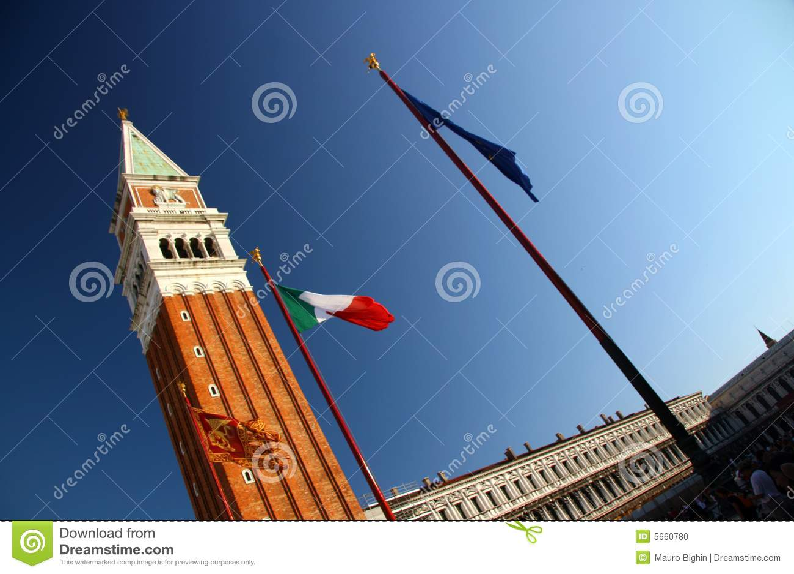 St de vierkante toren van het Teken, Venetië