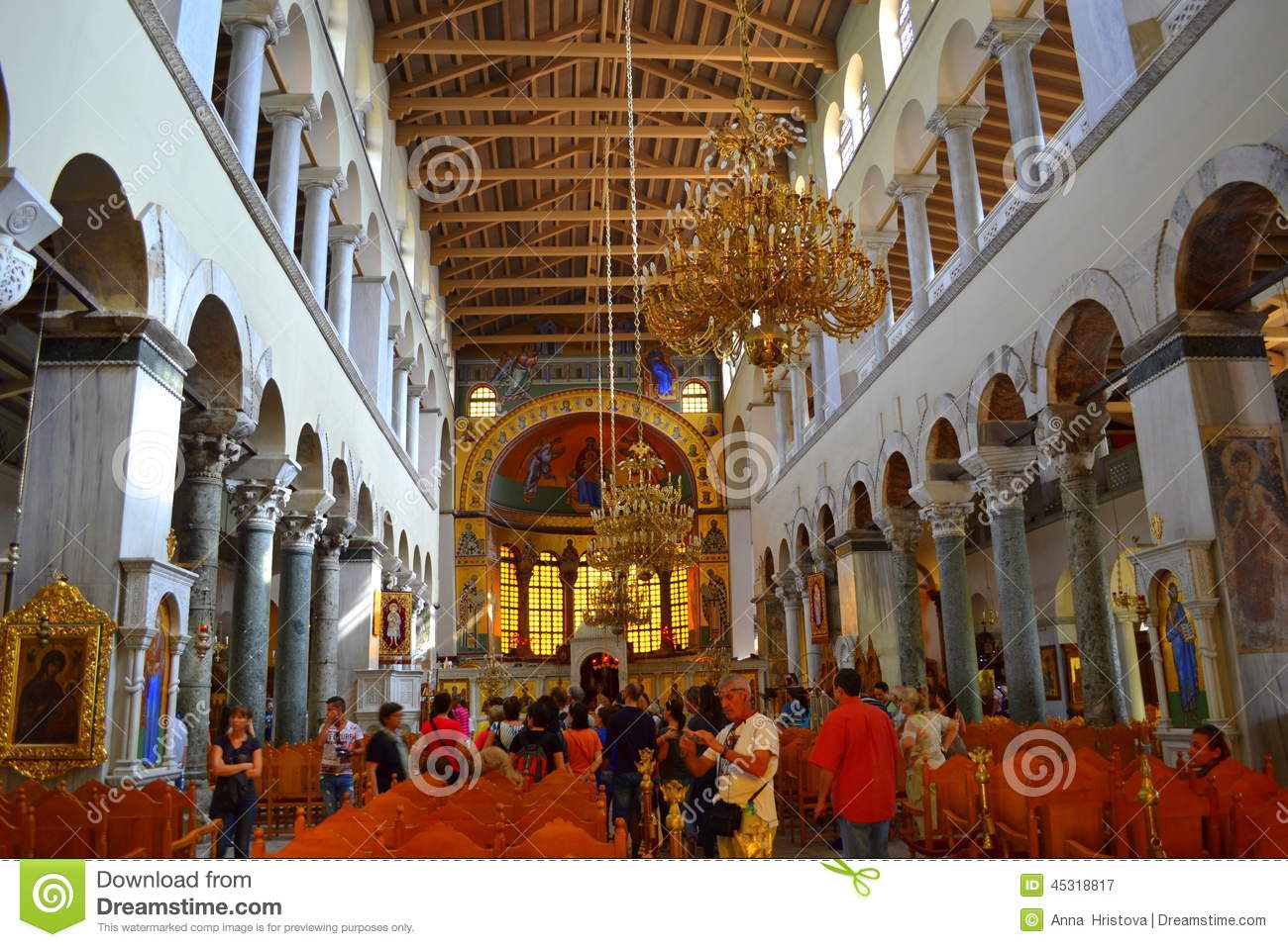 St Demetrios Church Interior Greece Editorial Photography ...