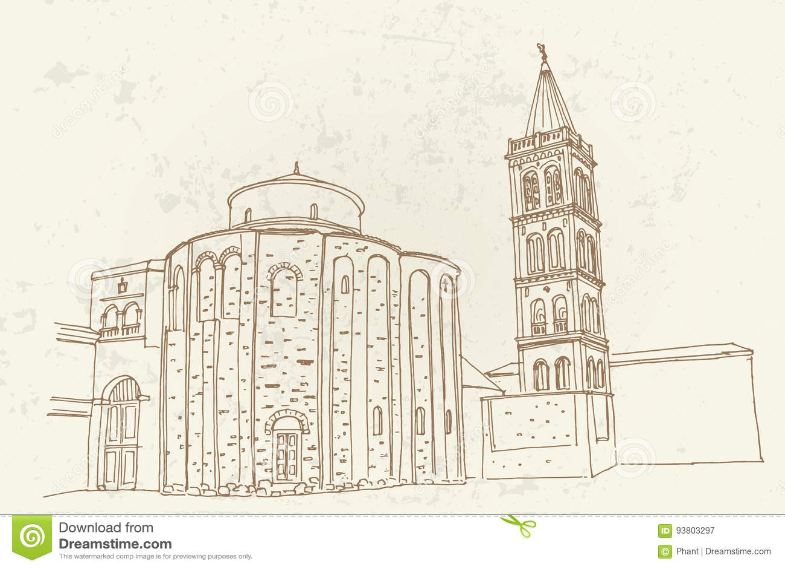 St. Donat auf dem römischen Forum, Zadar, Kroatien