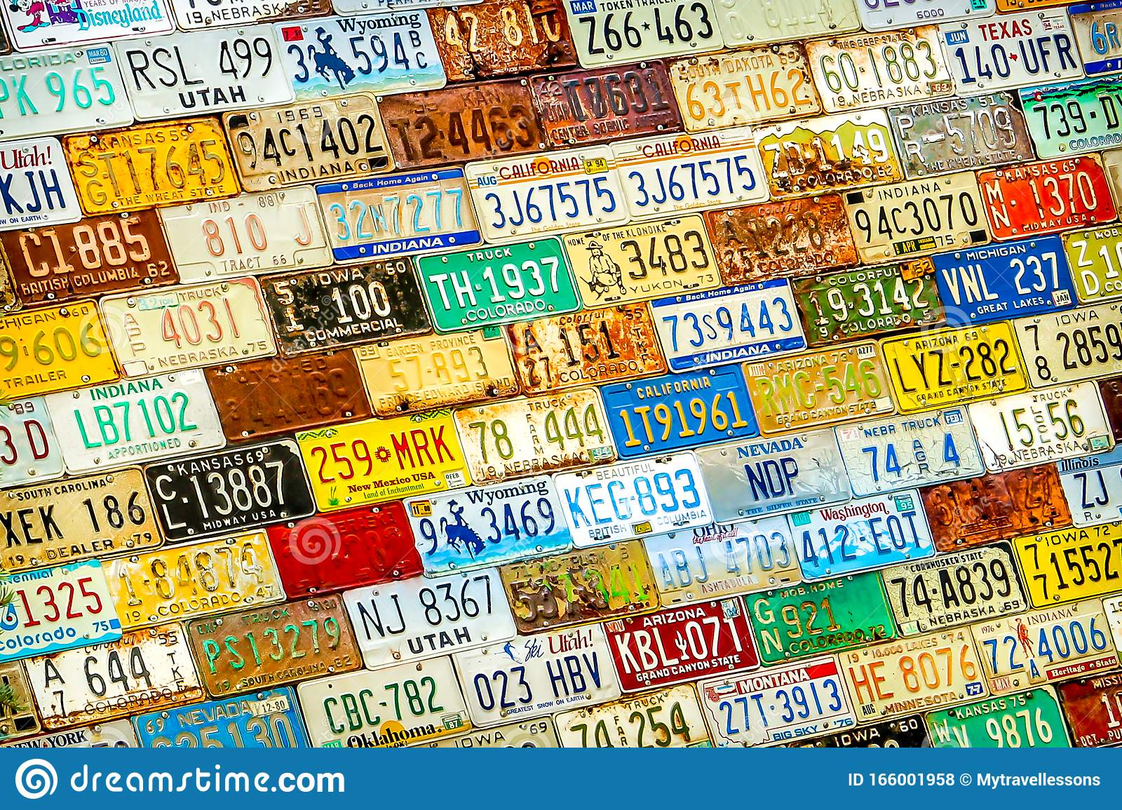 License Plates of America poster 1965