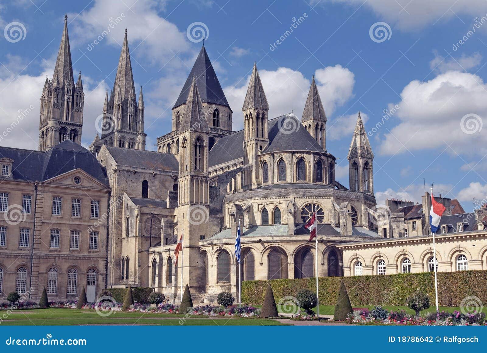 st etienne de caen stock photo image of cathedral france 18786642. Black Bedroom Furniture Sets. Home Design Ideas