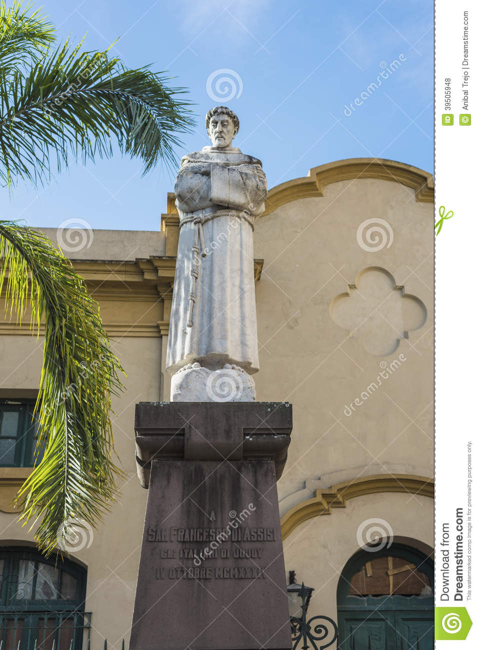 St. Francis of Assisi statue in Jujuy, Argentina.