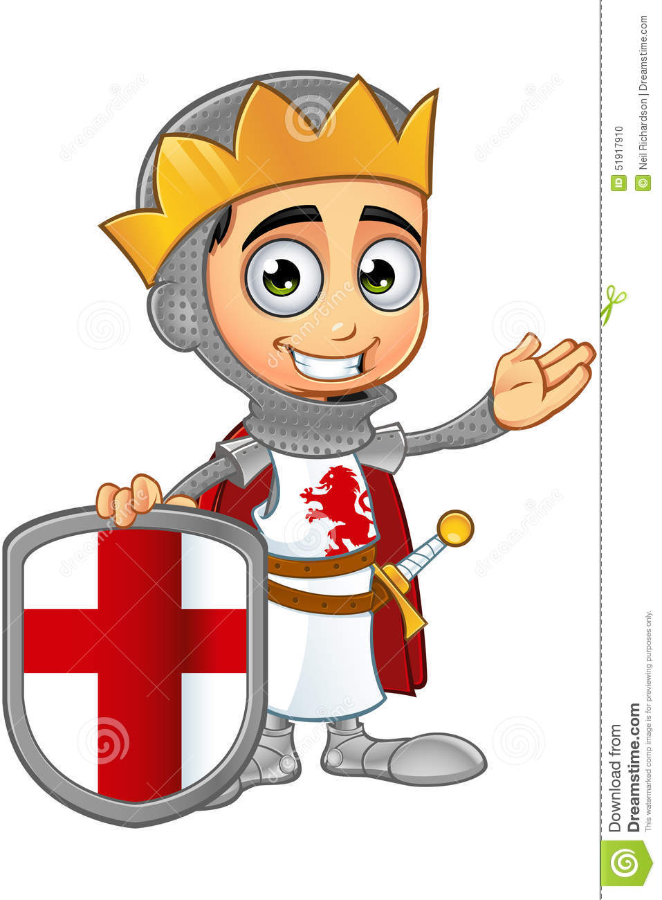 St. George Boy King Character Stock Vector - Image: 51917910
