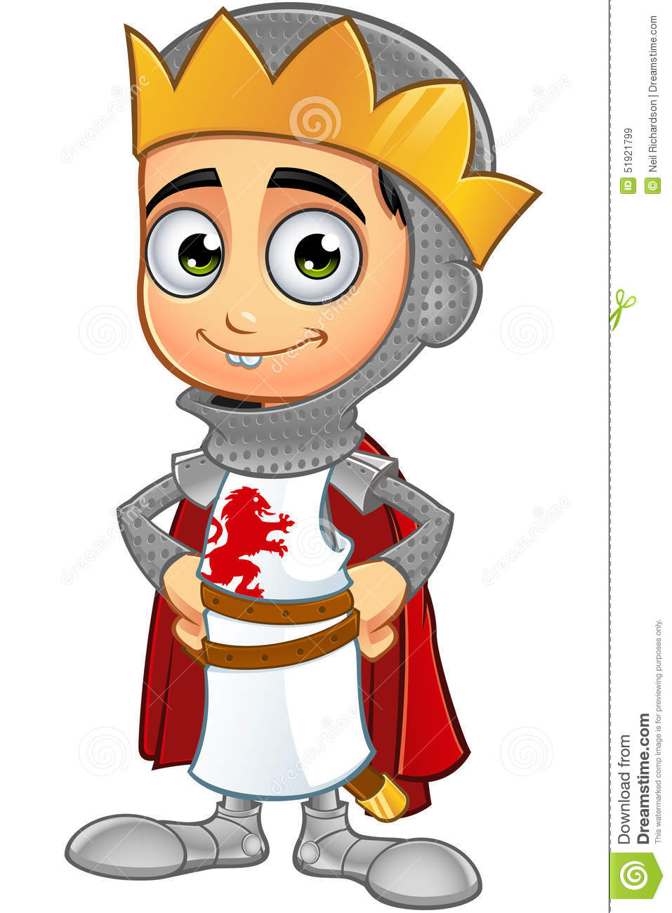 St George Boy King Character Stock Vector Image 51921799