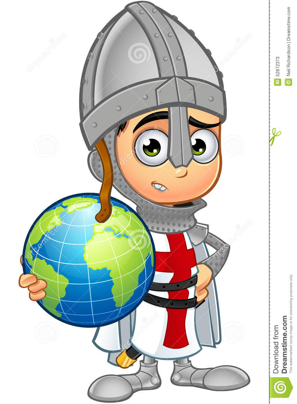 St. George Boy Knight Character Stock Vector - Image: 52872373