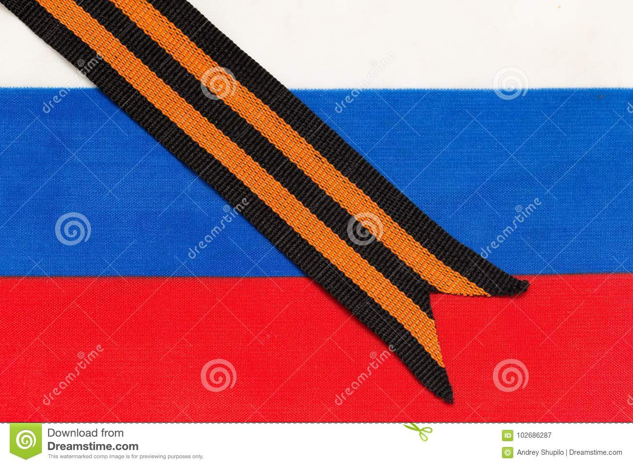 Long history of St. George ribbon and Russian glory