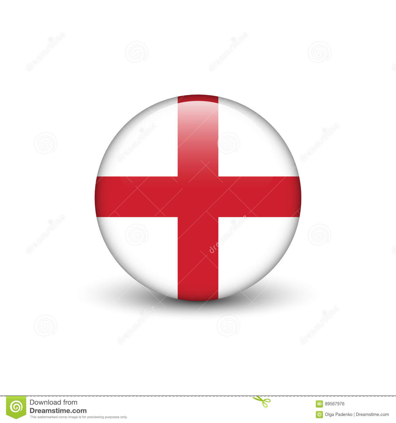 st george s cross flag of england stock illustration