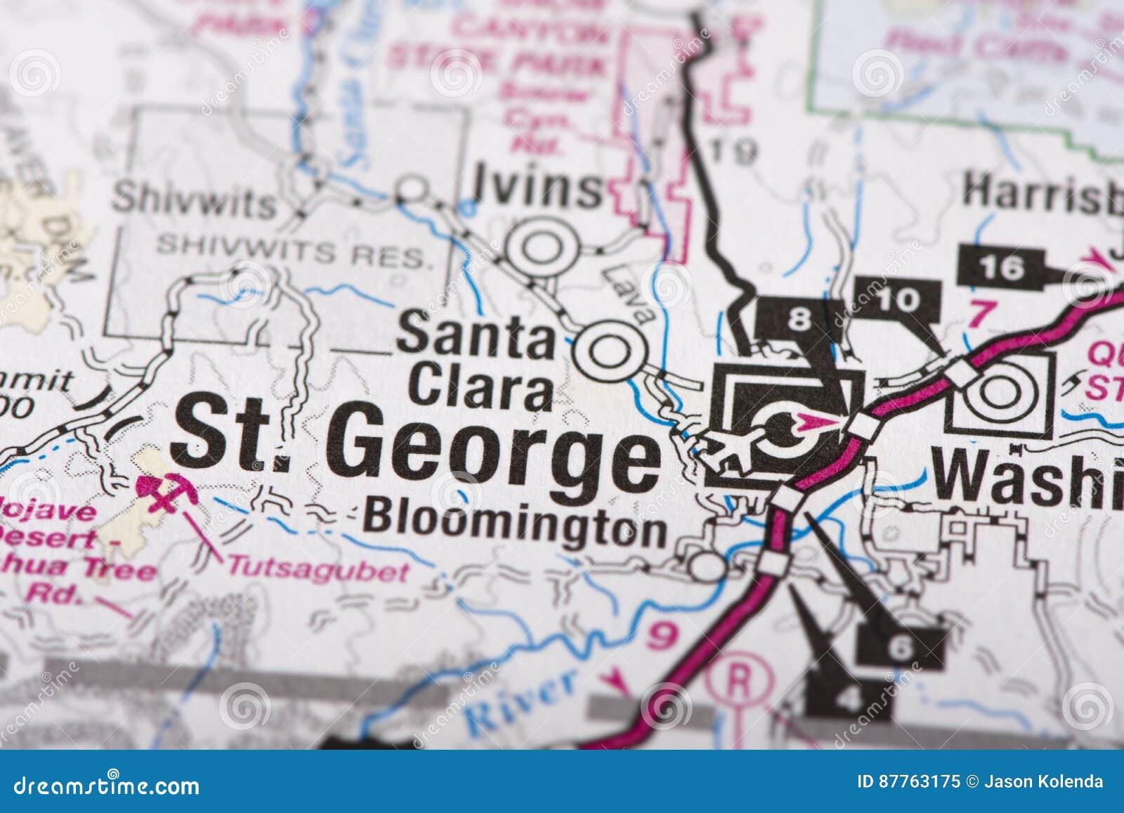St George, Utah na mapie