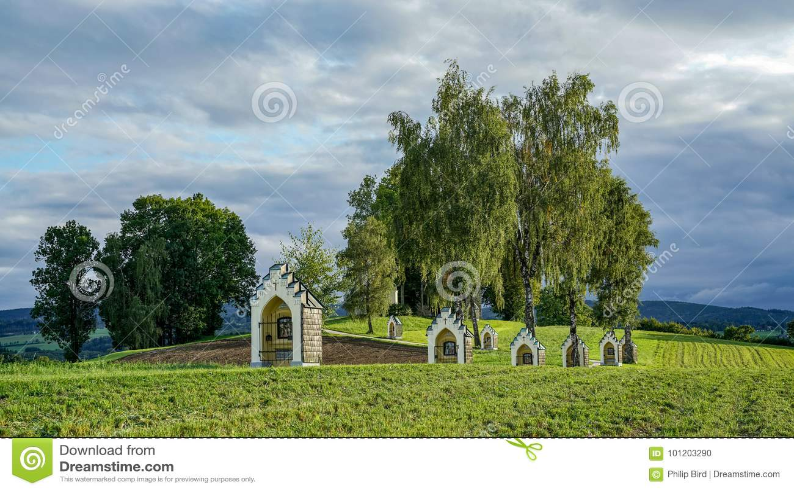 ST GEORGEN, ΆΝΩ ΑΥΣΤΡΊΑ /AUSTRIA - 15 ΣΕΠΤΕΜΒΡΊΟΥ: Calvary Chur
