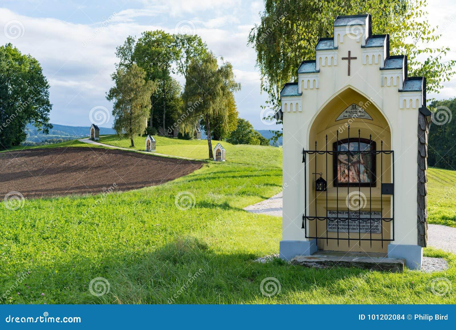 St GEORGEN, HAUTE-AUTRICHE /AUSTRIA - 15 SEPTEMBRE : Calvaire Chur